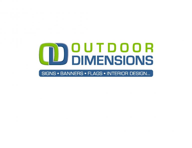 Outdoor Dimensions (signs, banners, flags, interior design...) Logo